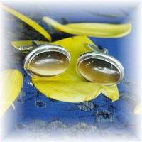 Cat eye stone cufflink