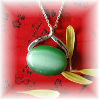Green cat eye stone